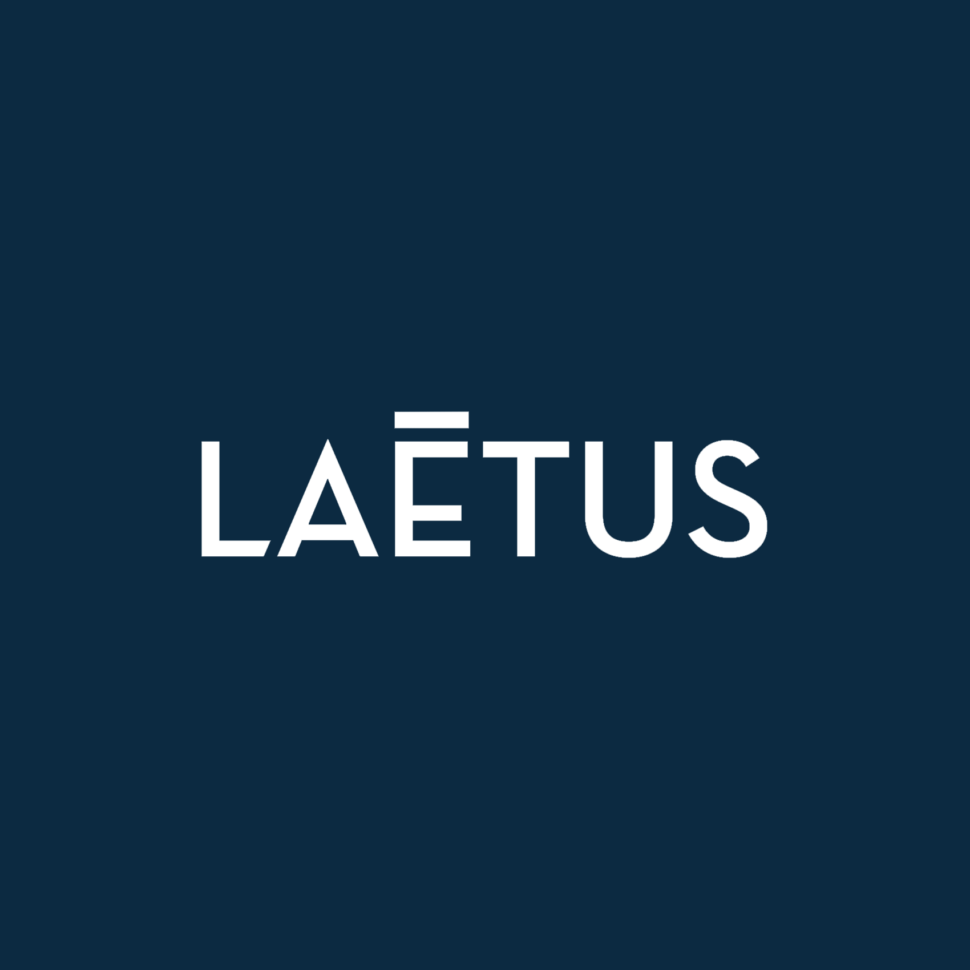 LAETUS logo fond bleu V1.1